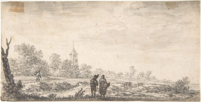 Landscape with Two Figures Conversing