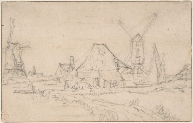 Landscape With Two Mills