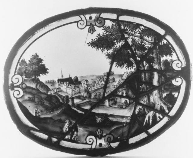 Landscape with view of the Monastery of Zevenburren near Louvain (one of three)