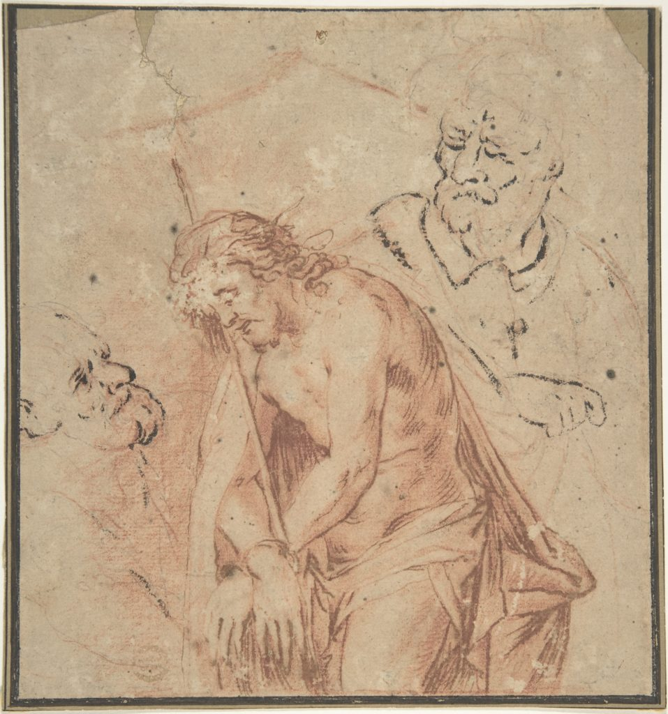 Man of Sorrows and Two Studies of Heads