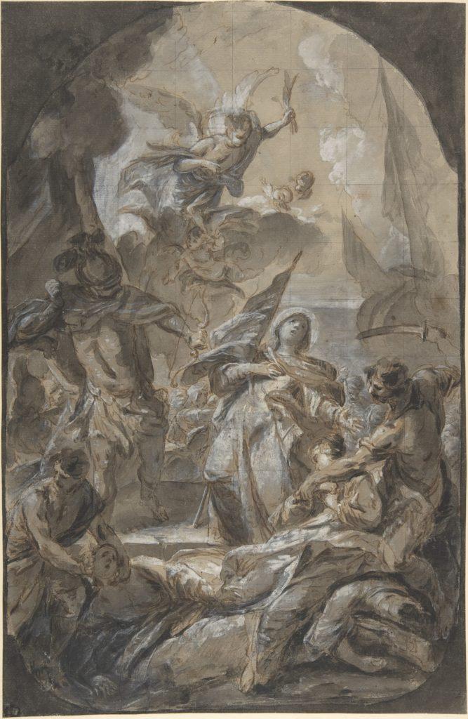 Martyrdom of Saint Ursula? Saint Paula?