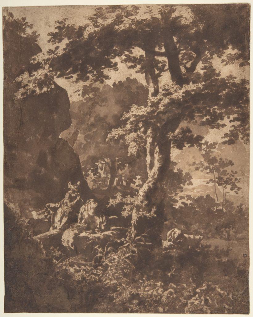 Mercury Lulling Argus to Sleep in a Landscape
