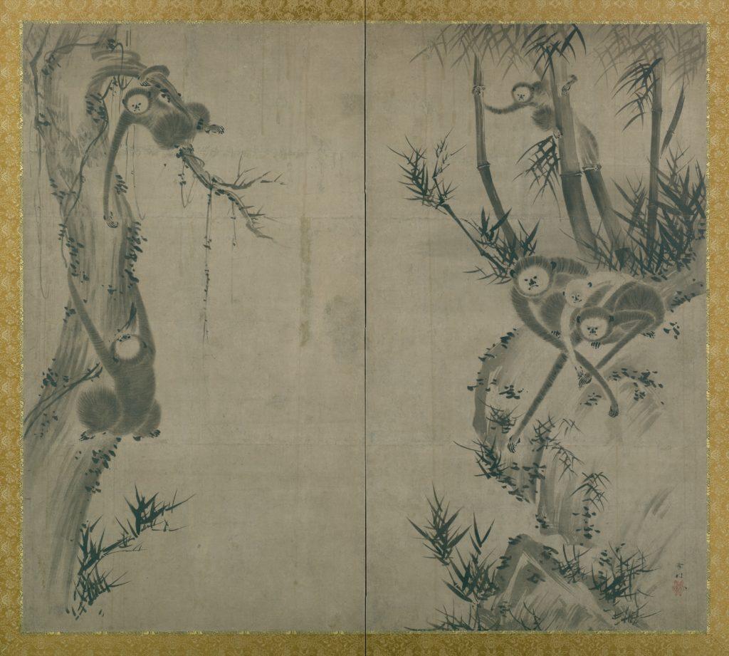 Monkeys on Rocks and Trees