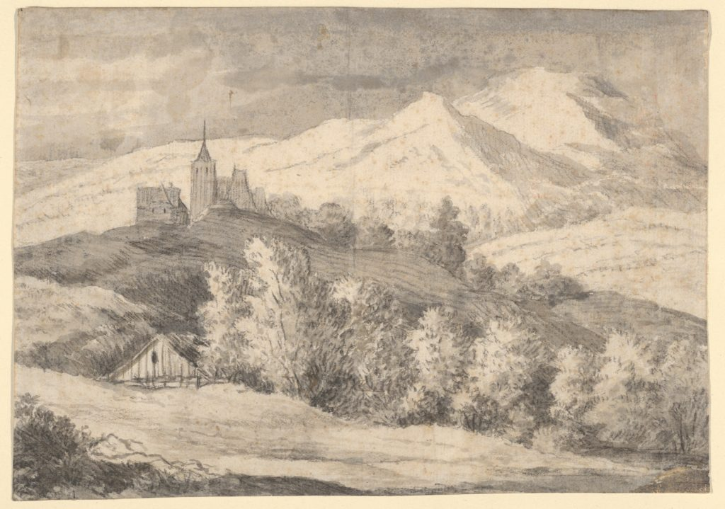 Mountaineous Landscape with a Church and Other Buildings