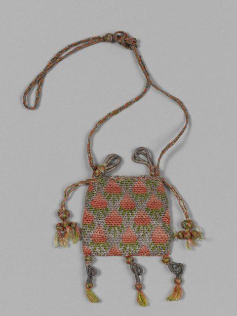 Needle lace purse