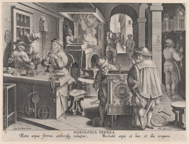New Inventions of Modern Times [Nova Reperta], The Invention of Clockwork, plate 5