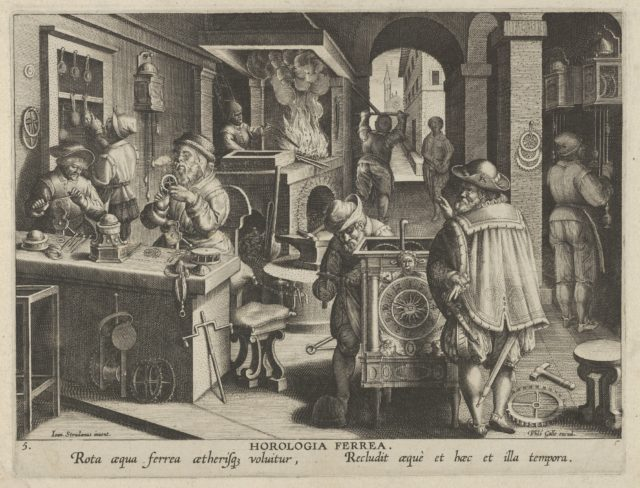 New Inventions of Modern Times [Nova Reperta], The Invention of the Clockwork, plate 5
