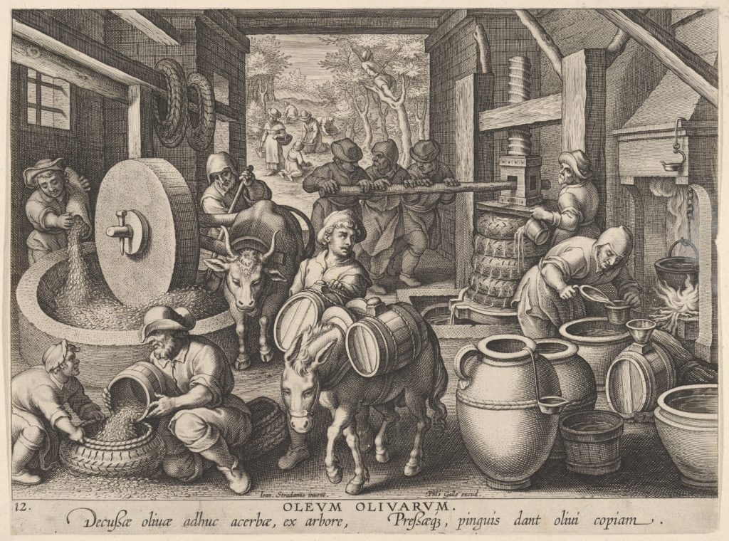 New Inventions of Modern Times [Nova Reperta], The Invention of the Olive Oil Press, plate 12