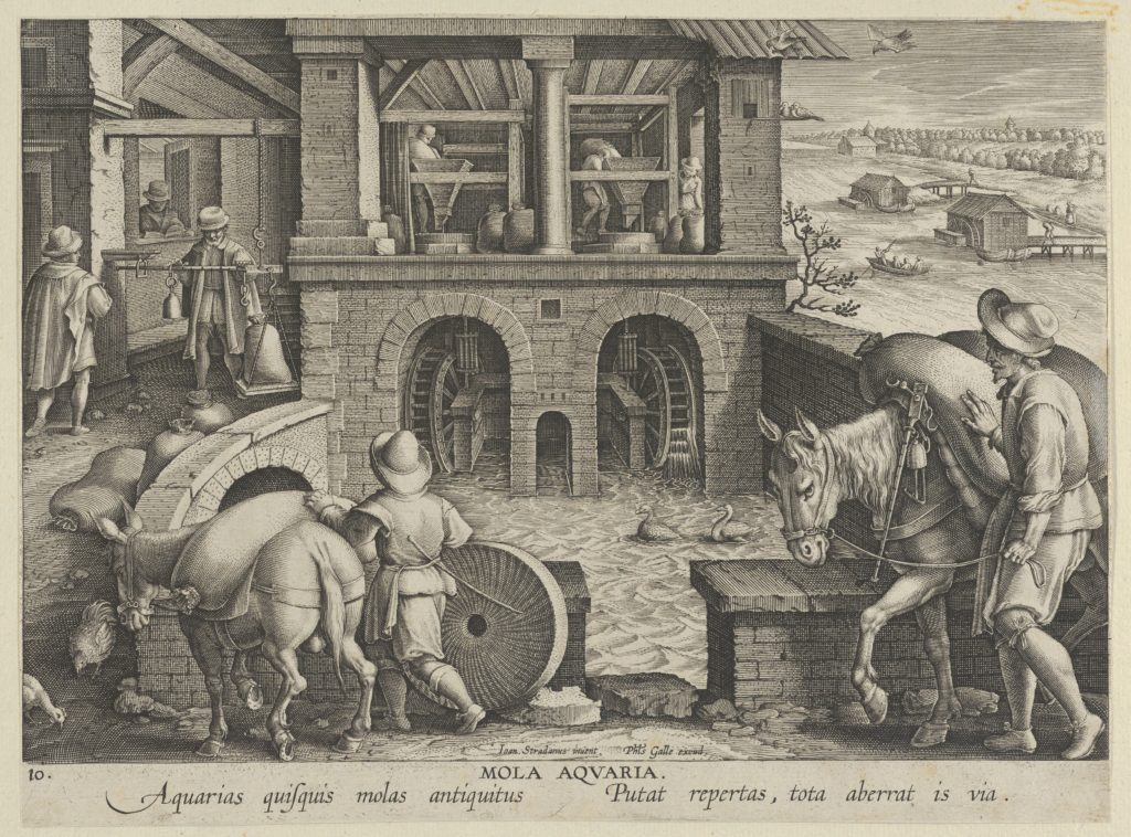 New Inventions of Modern Times [Nova Reperta], The Invention of the Watermill, plate 10