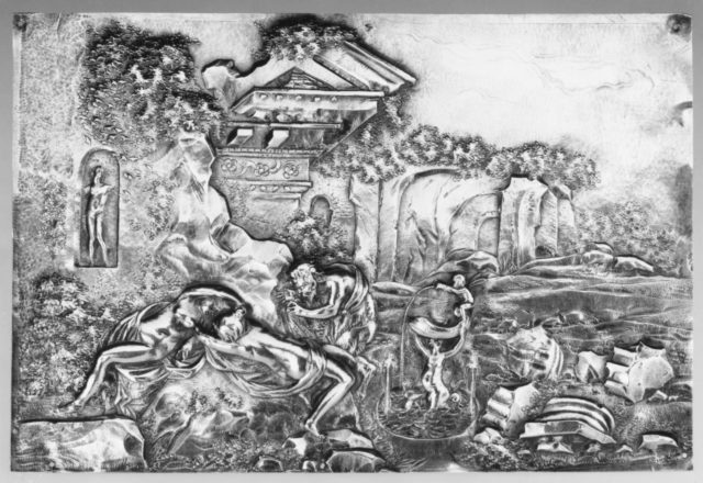 Nymphs and Satyr in a Classical Landscape