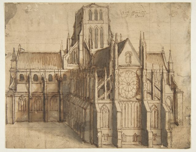 Old St. Paul's Cathedral, London, seen from the East
