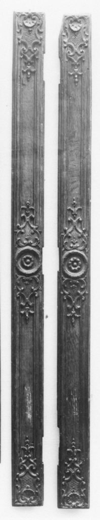 Pair of pilasters from an armoire