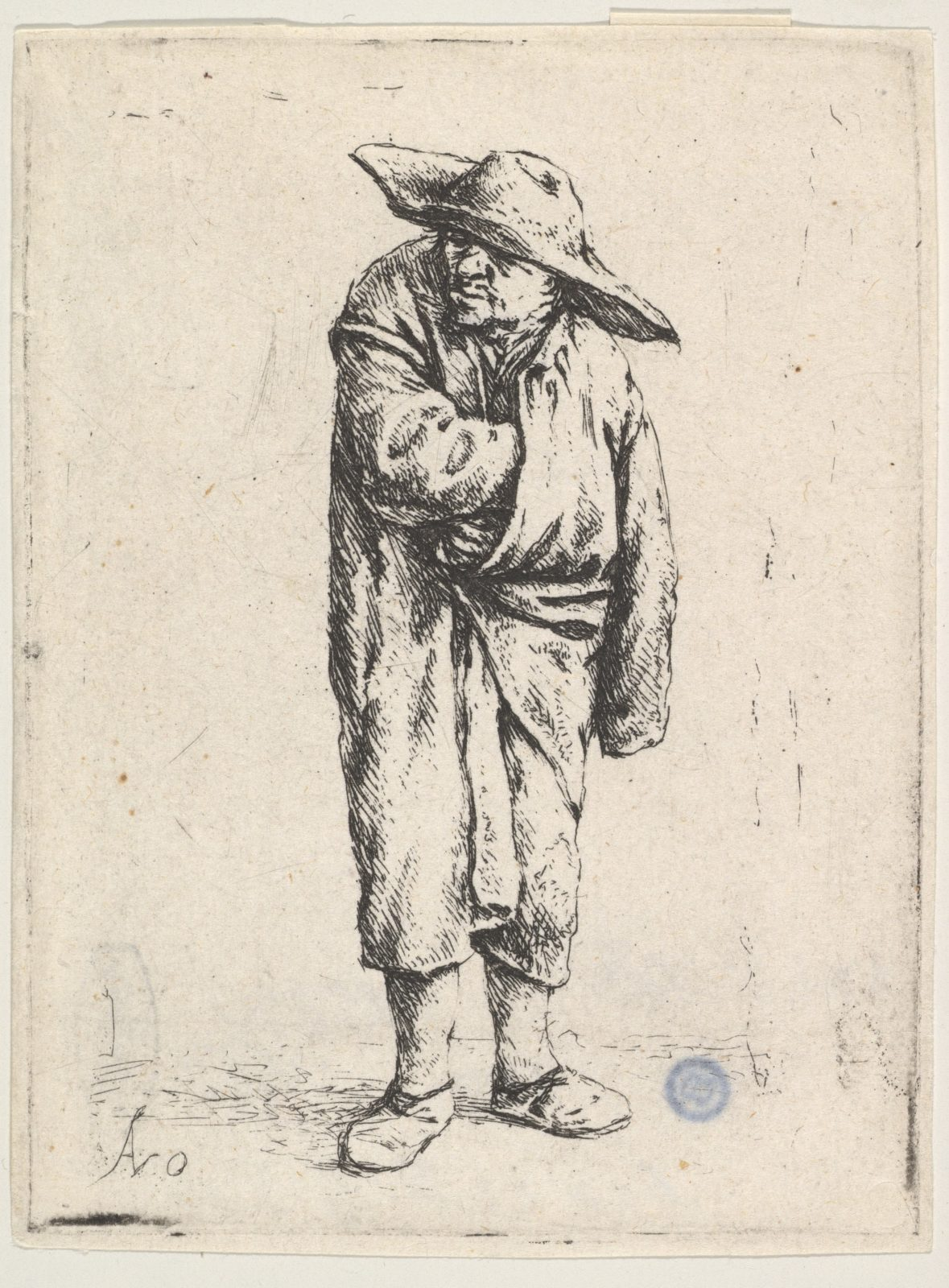 Peasant With His Hand In His Cloak