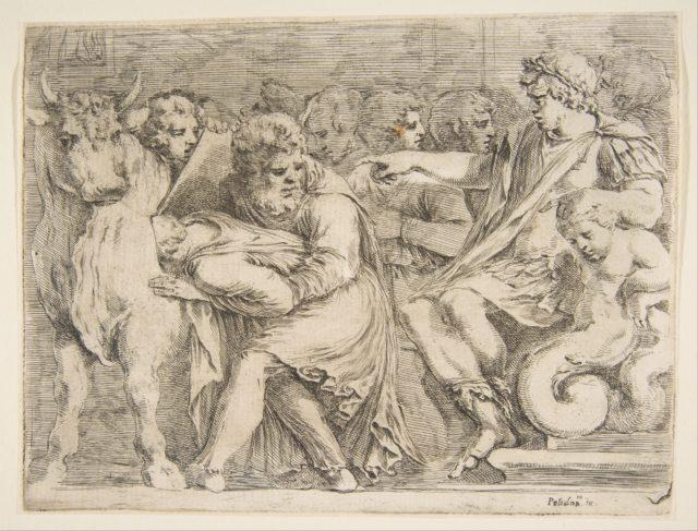 Phalaris Having Perillus Thrown into the Bronze Bull