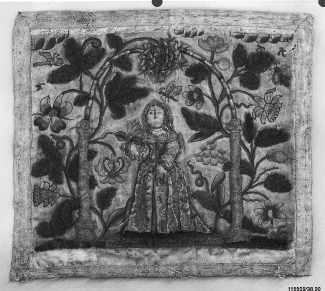 Picture with stumpwork embroidery
