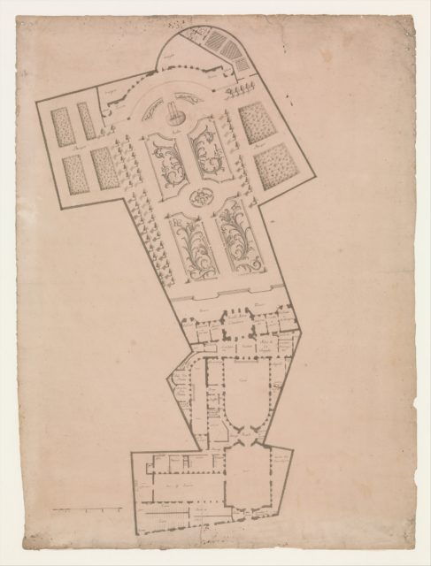 Plan of a Hotel and Garden