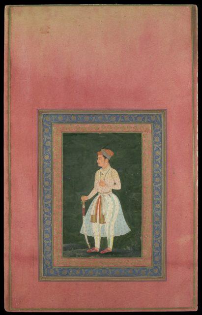 """Portrait of a Noble in Gauzy White Costume"", Folio from the Davis Album"