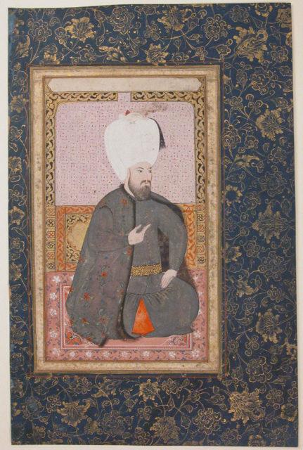 Portrait of Sultan Ahmet I (r. 1603–17)