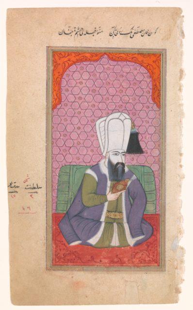 Portrait of Sultan Mustafa I (r. 1617–18; 1622–23)
