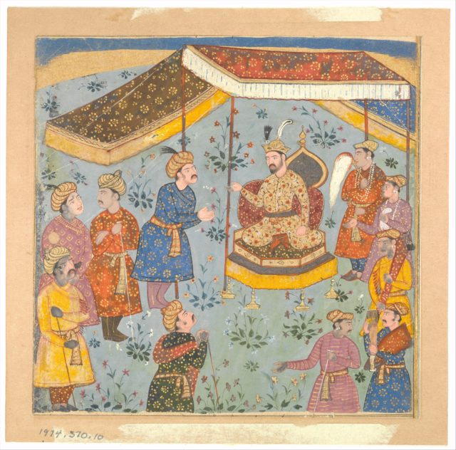 Reception of a Persian Ambassador by a Mughal Prince