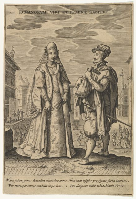 Romanorium Viri et Feminae Habitus, from Fashions of Different Nations (copy)