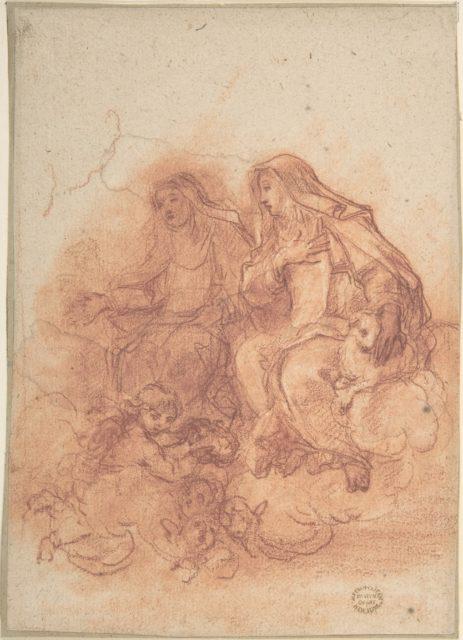 Saint Agnes and a Female Saint