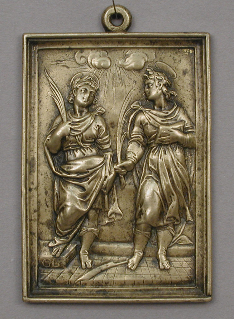 Saints Acisclus and Victoria (?)