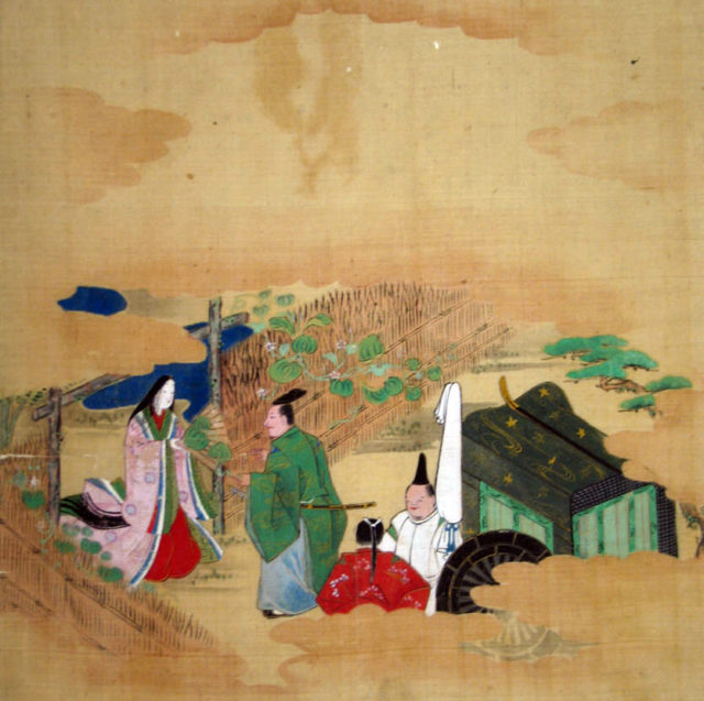 "Scene from The Tale of Genji: Chapter 4, ""Evening Face"" (Yūgao)"