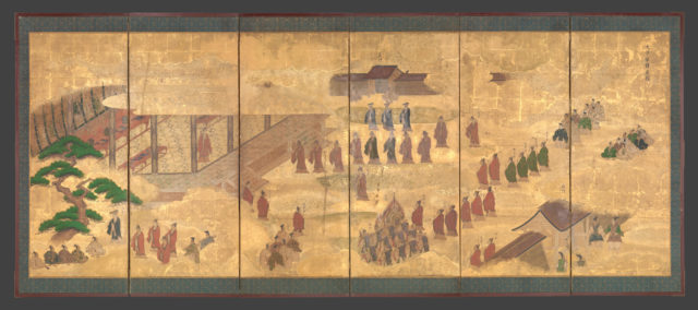 Scenes at the University with Images of the Ancient Sages; Debate and Banquet at the Administration Offices