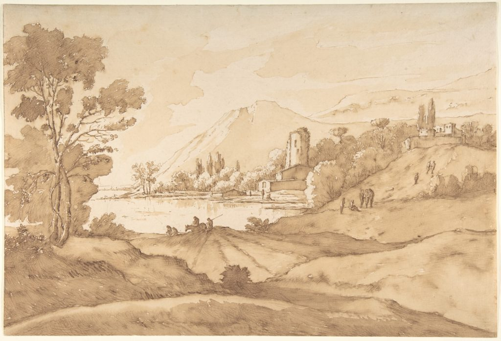 Southern Imaginary Landscape with Mountains and a Lake