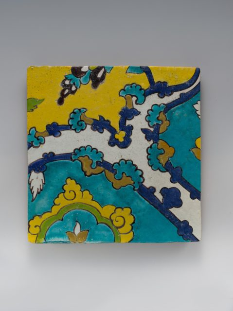 Square Tile Depicting Clouds