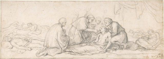 St. Charles Borromeo Giving Communion to the Plague-Stricken