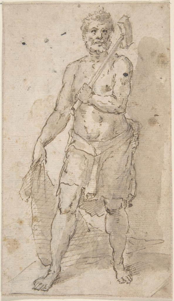 Standing Figure of a Man (Fisherman?)