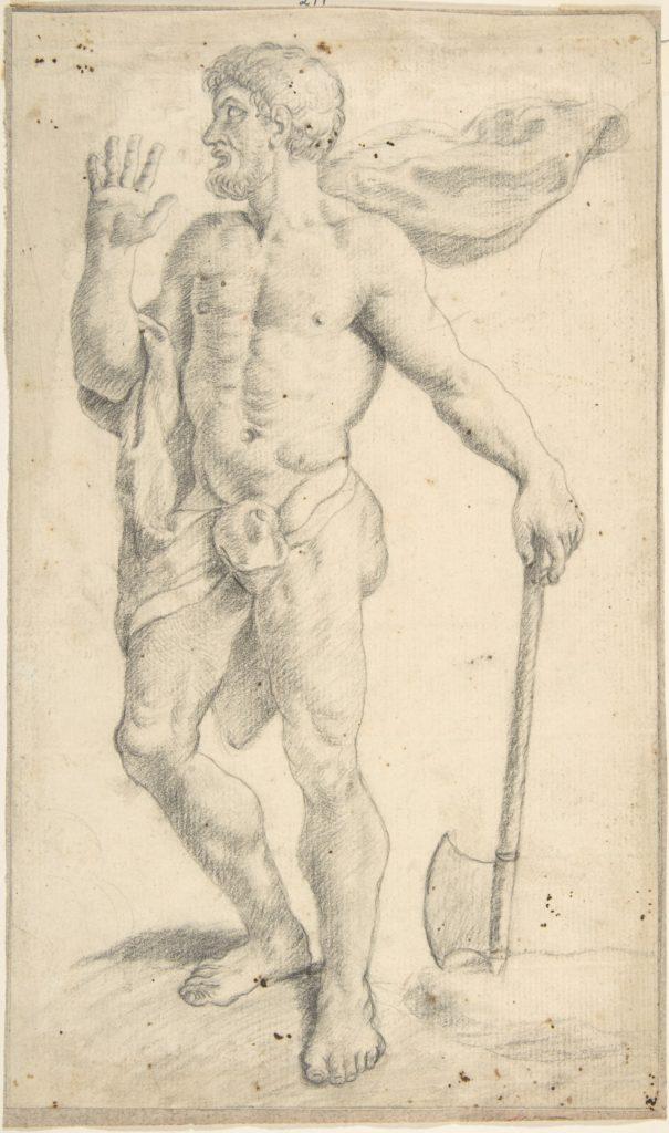 Standing Male Nude Figure