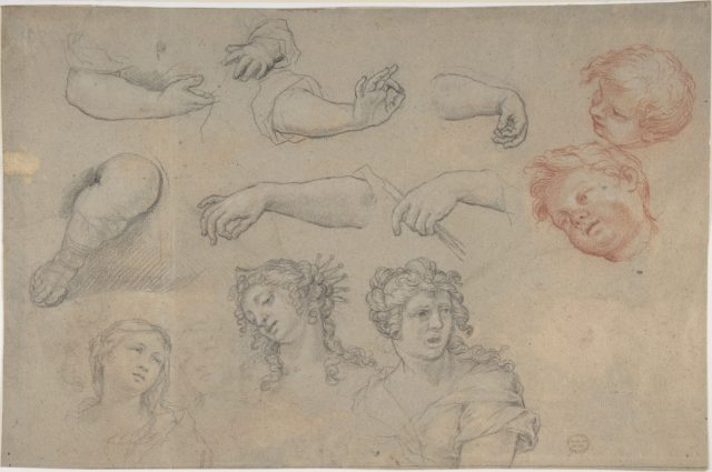 Studies of Heads and Hands
