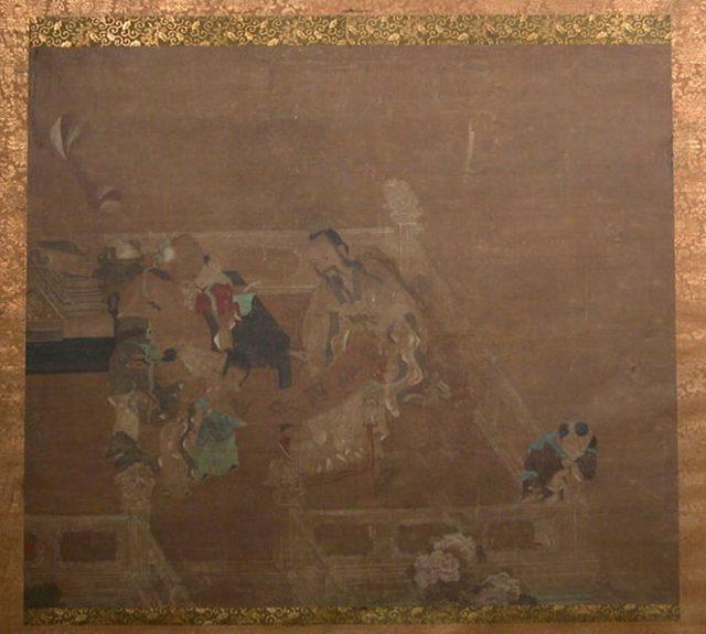 Terrace Scene with Figures