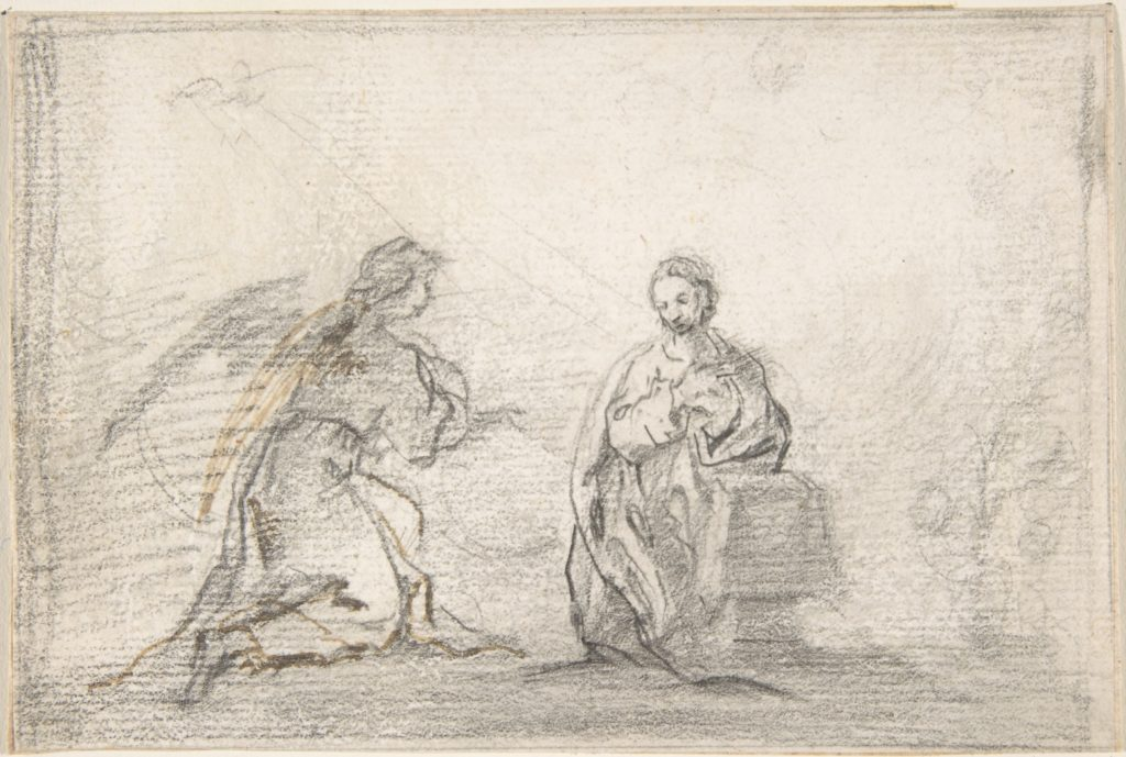The Annunciation (Angel Approaching from Left)