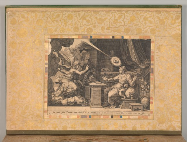 """The Annunciation"", Folio from the Bellini Album"