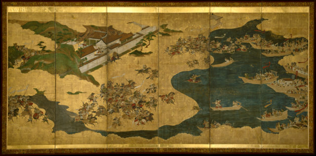 The Battle of Yashima, Scenes from The Tale of the Heike