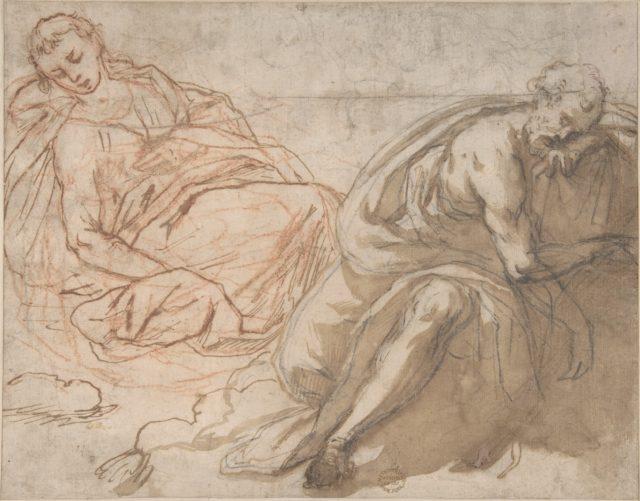 Two Sleeping Figures