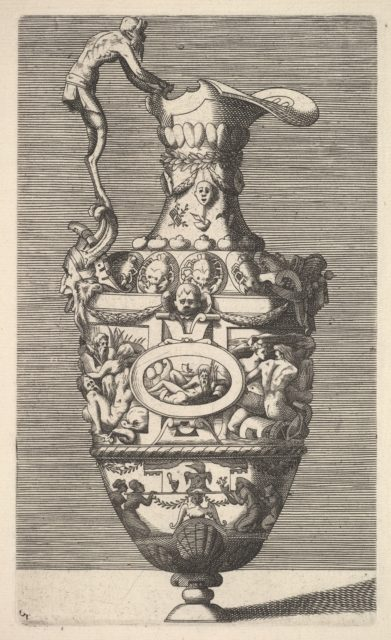 Vase with a River God in an Oval Medallion