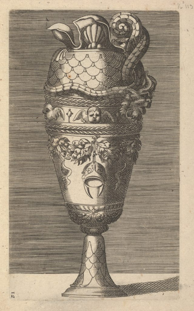 Vase with Cherubs and a Helmet