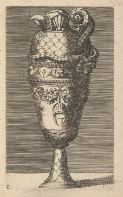 Vase with Cherubs and a Helmet