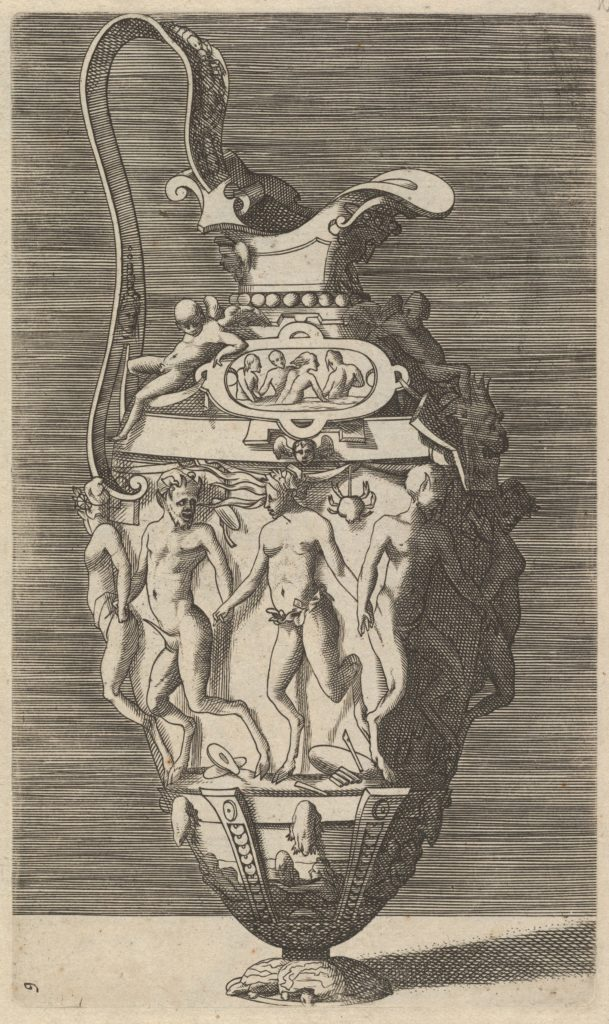 Vase with Dancing Women and Satyrs