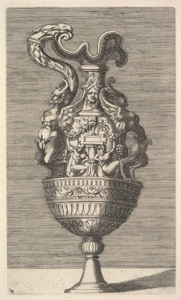 Vase with Two Winged Satyrs