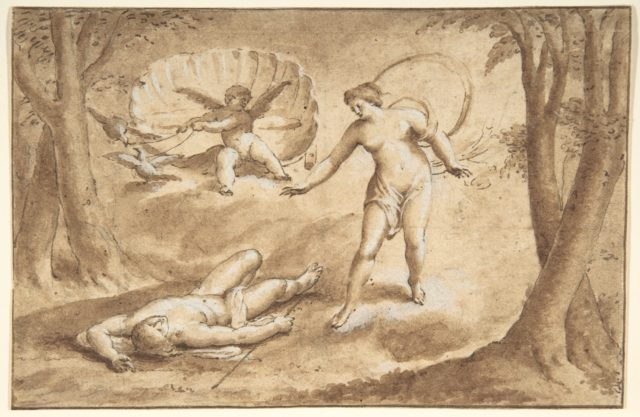 Venus Discovering the Death of Adonis