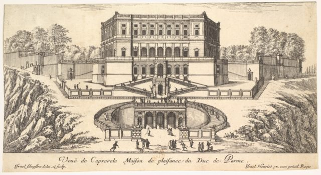 View of Caprarola, from a series of fifteen views of Italy and France