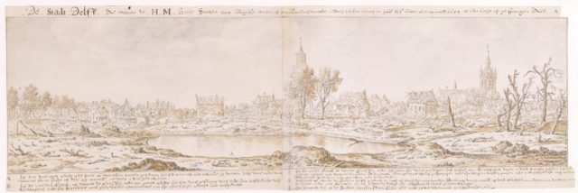 View of Delft after the Explosion of the Gunpowder Arsenal on October 12, 1654