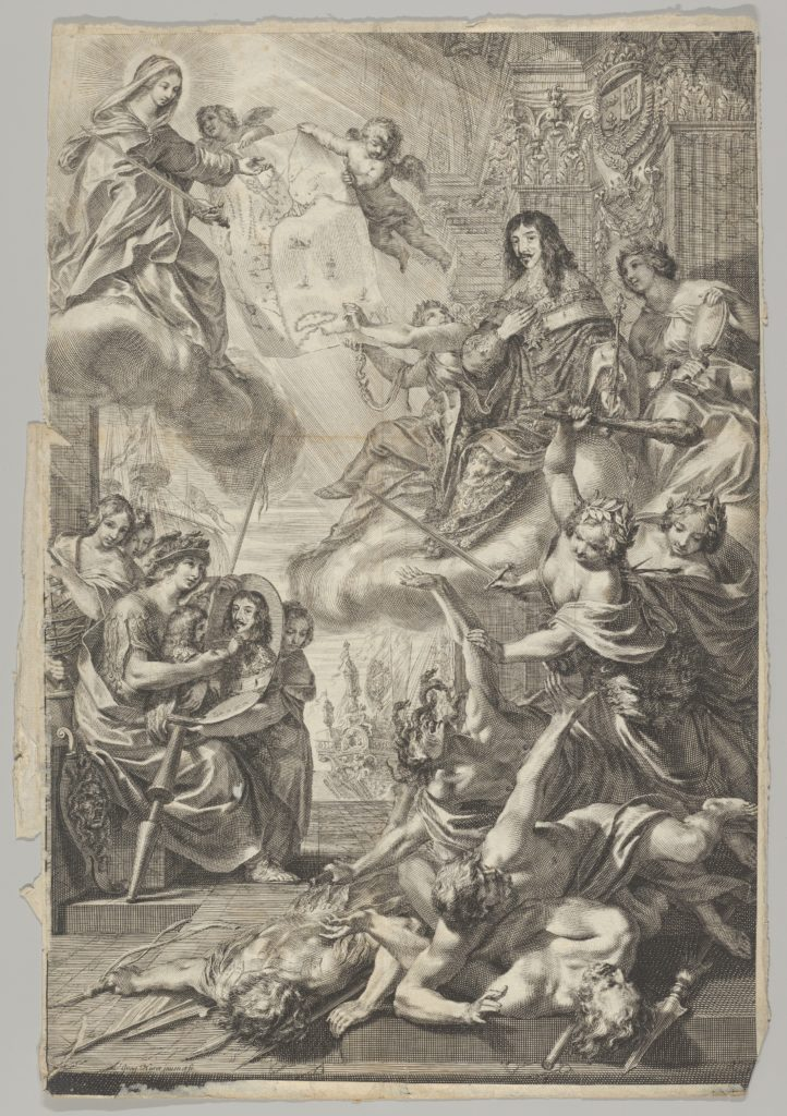 Virgin Helps Louis XIII to Expel the Vices