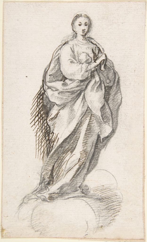 Virgin of the Immaculate Conception Standing on Clouds